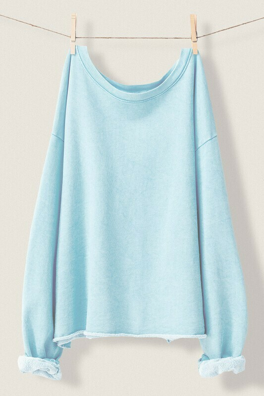 *French Terry Lightweight Pullover - 0834-5420-3