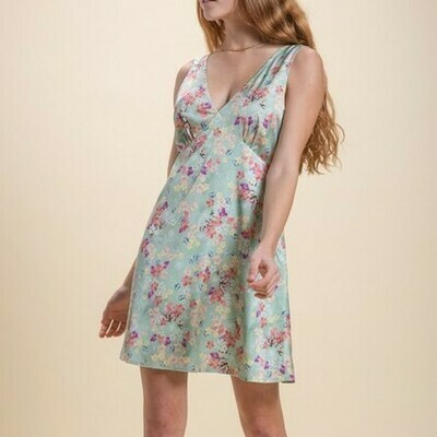 *Sleeveless Babydoll Dress - IMC6074D