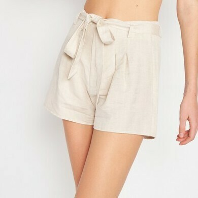 *High Waist Shorts W/Belt - IMA5822P