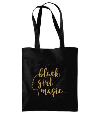 Black Girl Magic Silhouette Westford Mill Promo Shoulder Tote Bag