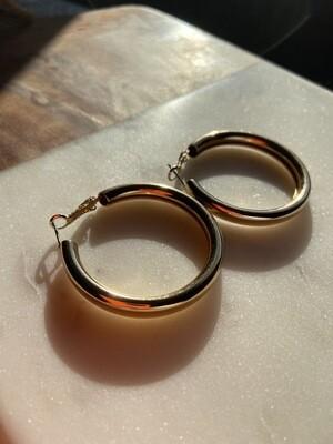 the bigger the hoop Statement Earrings