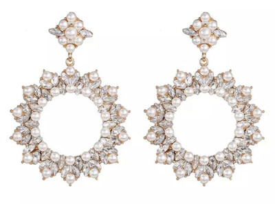 Sparkly Circle Earrings