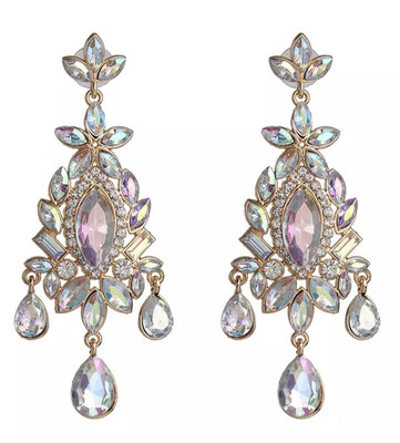Princess Flower Statement Earrings