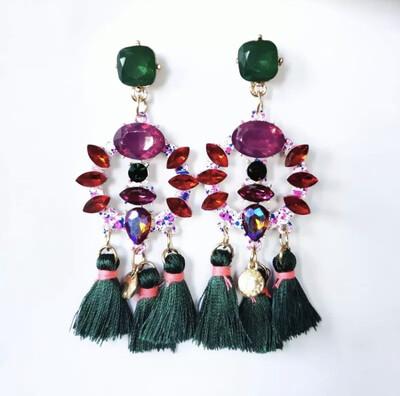 Green Cherry Earrings