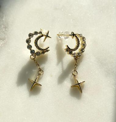 Valentine Moon Earrings