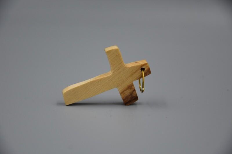 Kreuzanhänger  aus Olivenholz