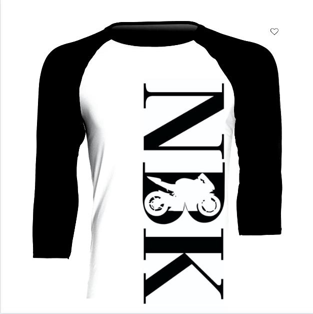 3/4 NBK Baseball T-shirt