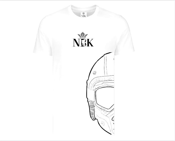 NBK Half Helmet Face T-shirt