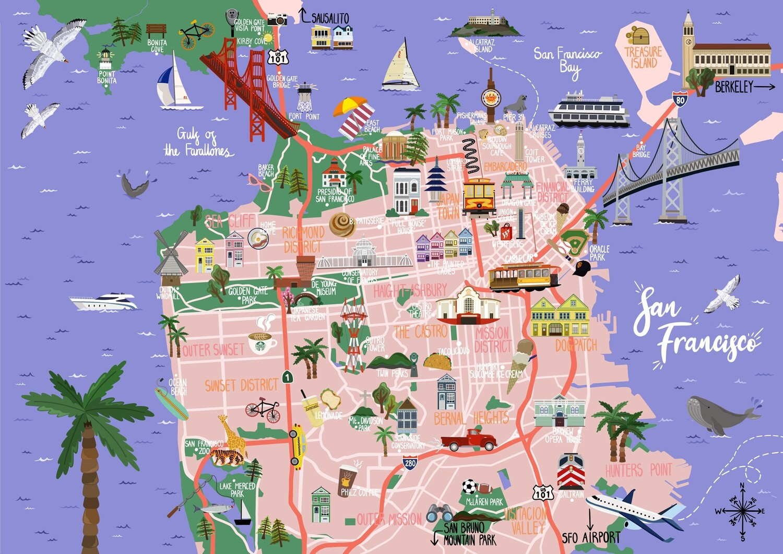 San Francisco - Map Print