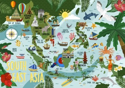 South East Asia - Map