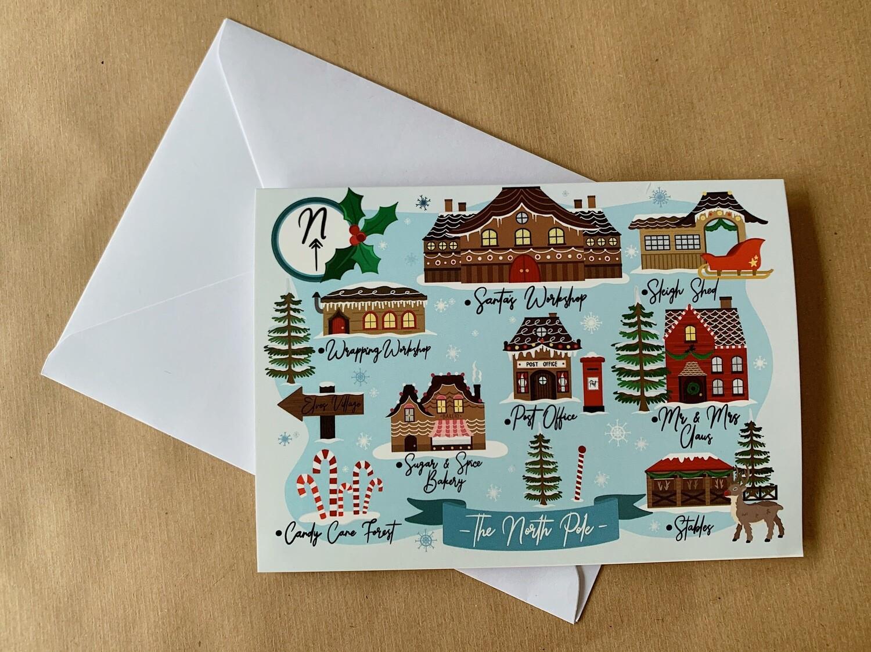 North Pole - Christmas Card