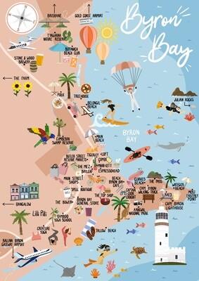 Byron Bay - Map Print