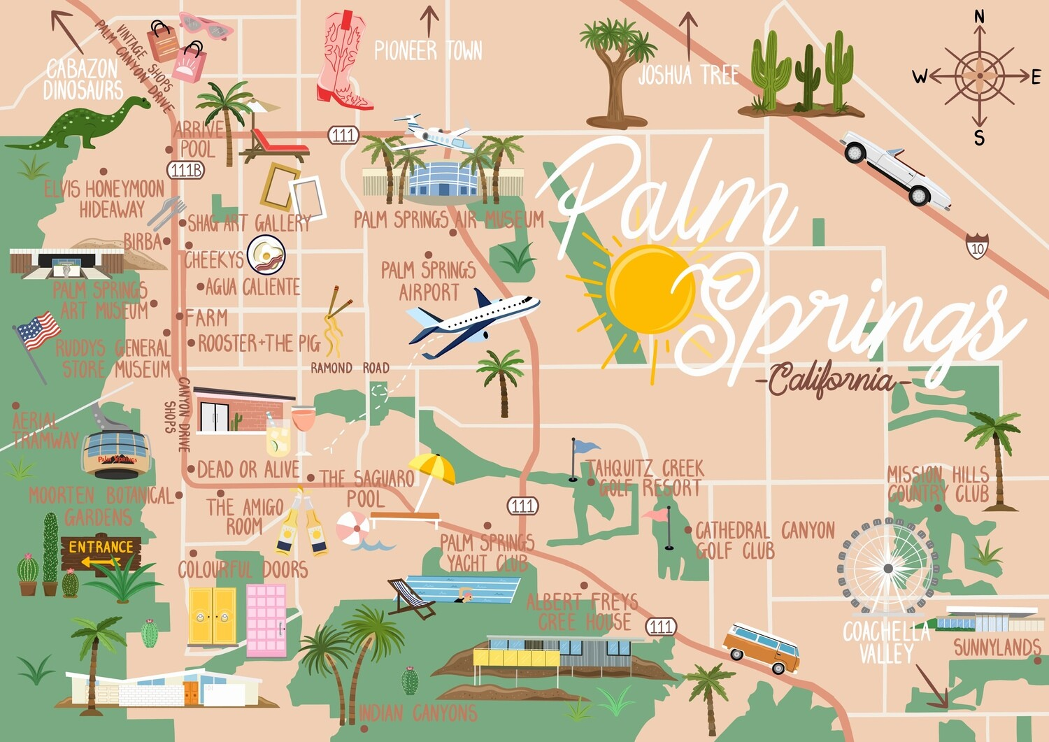 Palm Springs - Map and Travel Guide