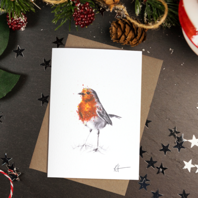 'Robin' Greetings Card