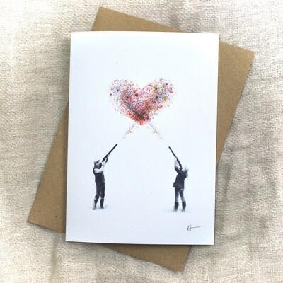 'Love Is The Aim' Greetings Card