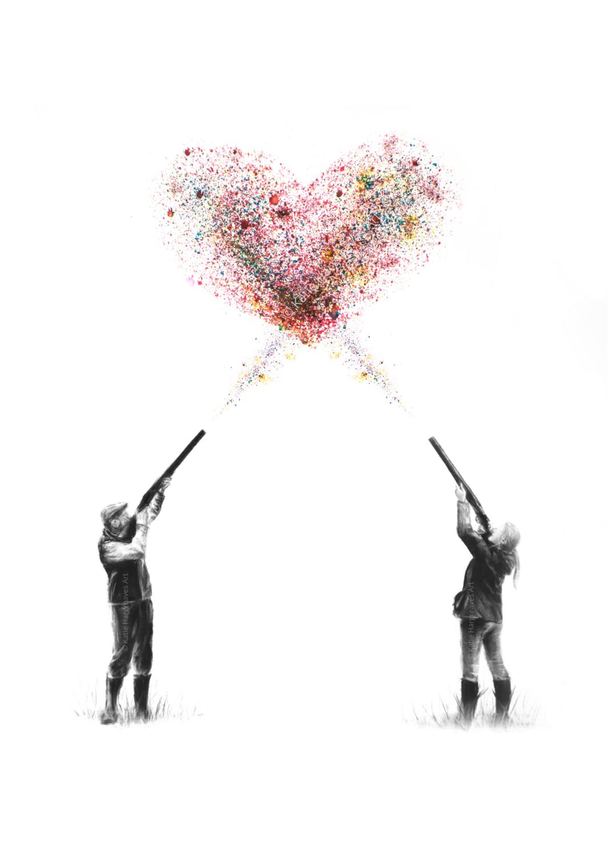 'Love Is The Aim' - A4 Signed Giclée Print