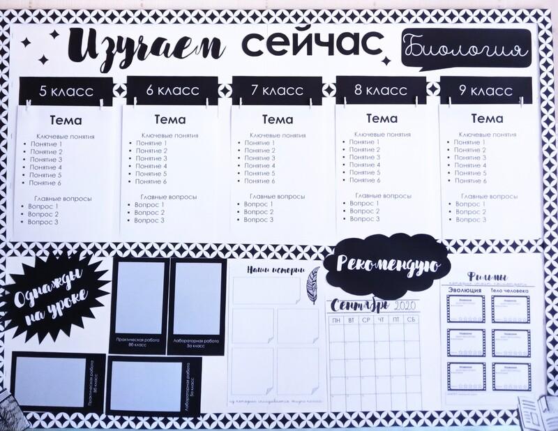 Планер учителя: планирование предметника+оформление предметной доски