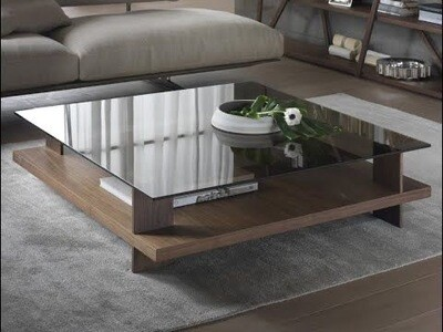 Tea Table with Glass Top - Modern