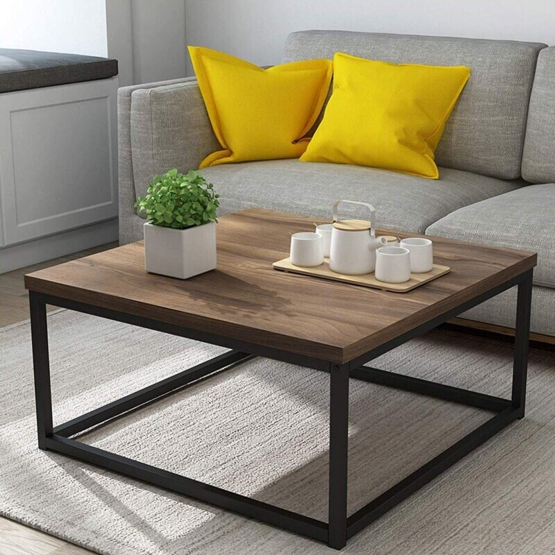 Tea Table with Metal Structure