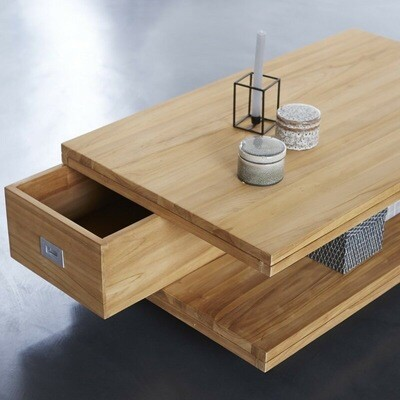 Tea Table with Storage - Modern