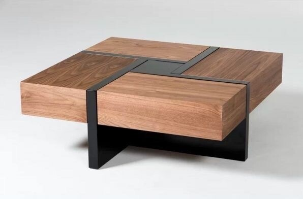Tea Table with Multiple Drawers