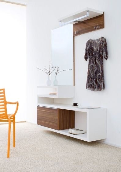 Dresser with Clothes Hanging