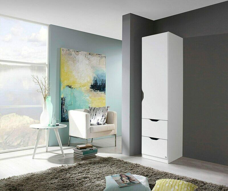 Single Door Wardrobe - White
