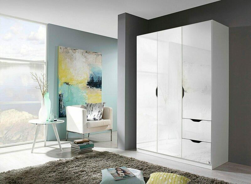 Three Door Wardrobe - White