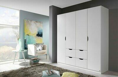 Four Door Wardrobe - White