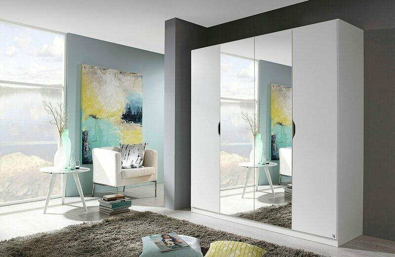 Four Door with Mirror - White