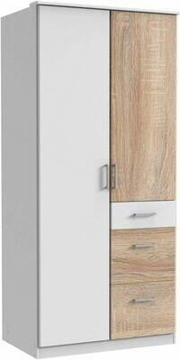 Light Oak and White - 3ft x 6.5ft