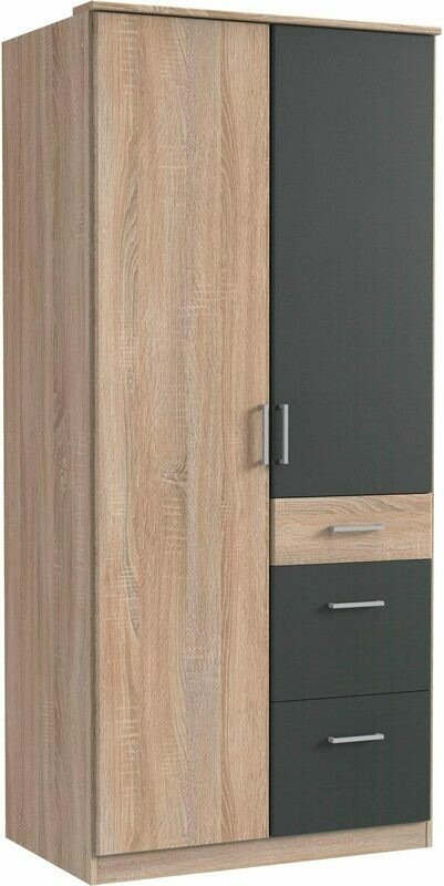 Light Oak and Steel black - 3ft x 6.5ft