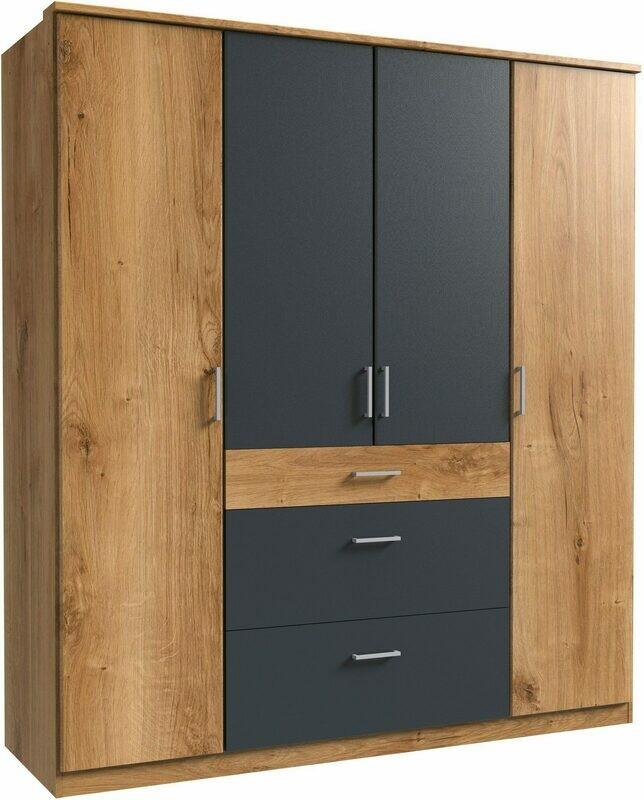 Real Oak and Steel Black - 6ft x 6.5ft