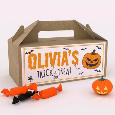 Personalized Halloween Trick or Treat in a Box