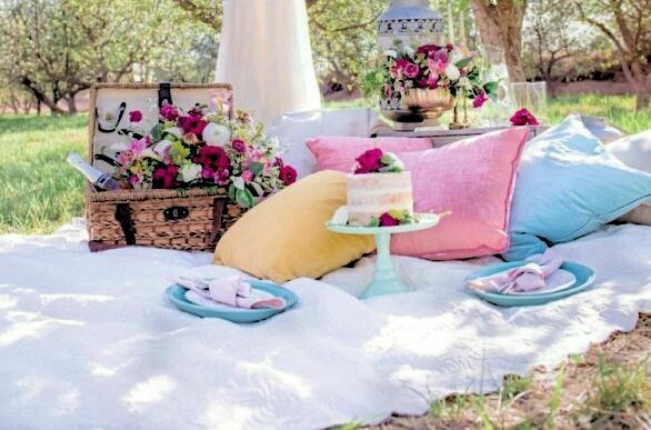 Spring Picnic Date in a Basket
