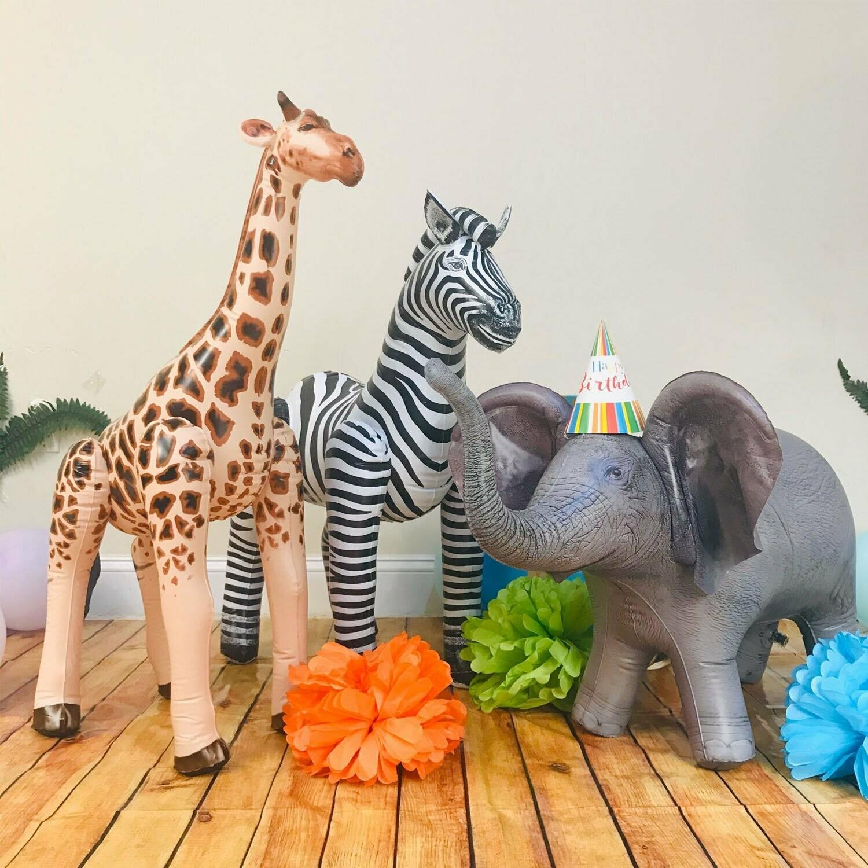 Safari Birthday Inflated Jumbo Animals