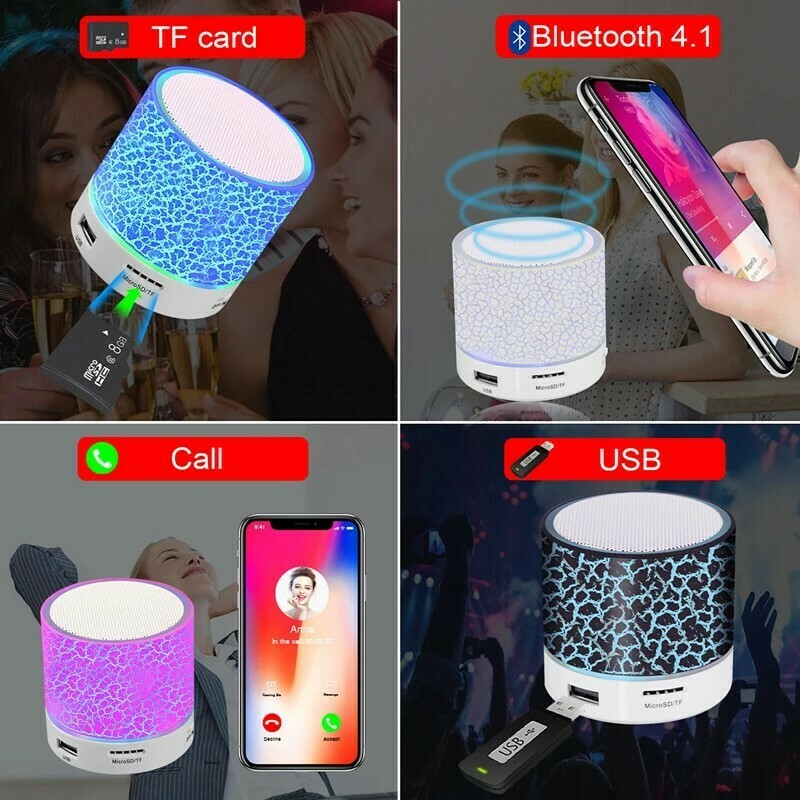 Wireless Portable Bluetooth Speaker Mini LED Music Audio TF USB FM Stereo Sound Speaker for Xiaomi