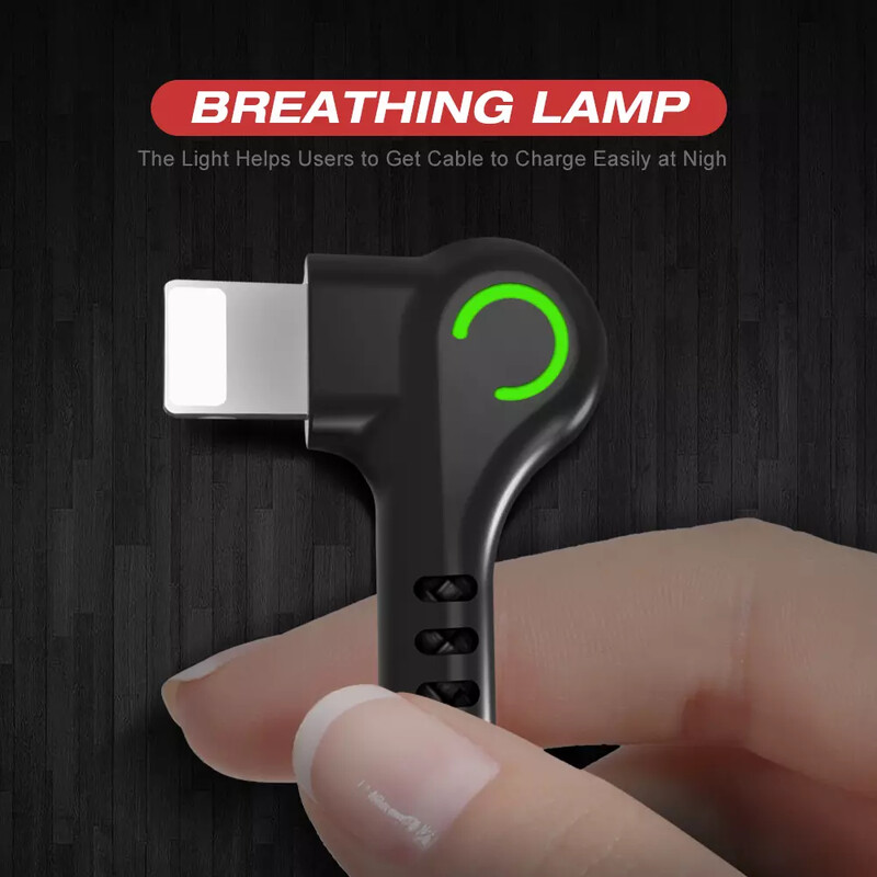 Elbow 90 USB Data Charger Cable good quality for iPhone