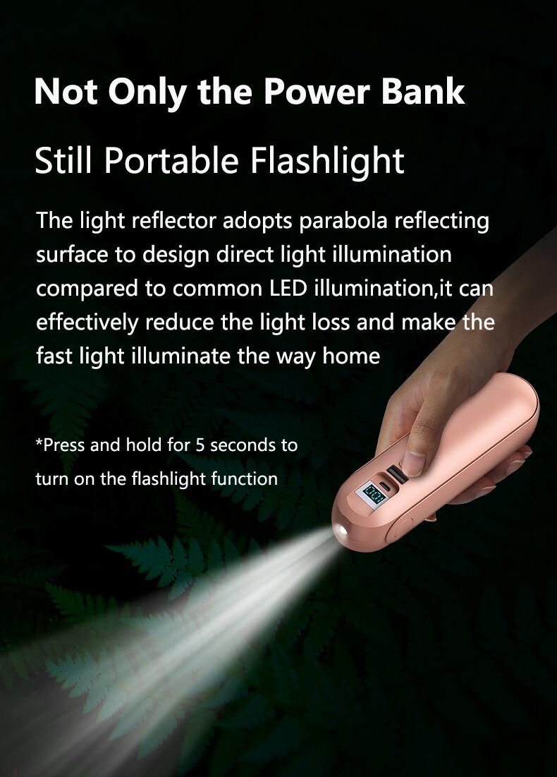 Drop shipping Power bank Earphone flashlight Mini Fan Multi-Function Power bank Earphone