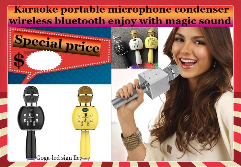 Wireless Bluetooth Microphone LED Karaoke KTV
