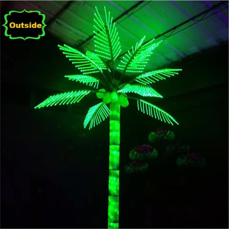 Led palm tree outside Party Christmas lights outdoor 15ft decoratio