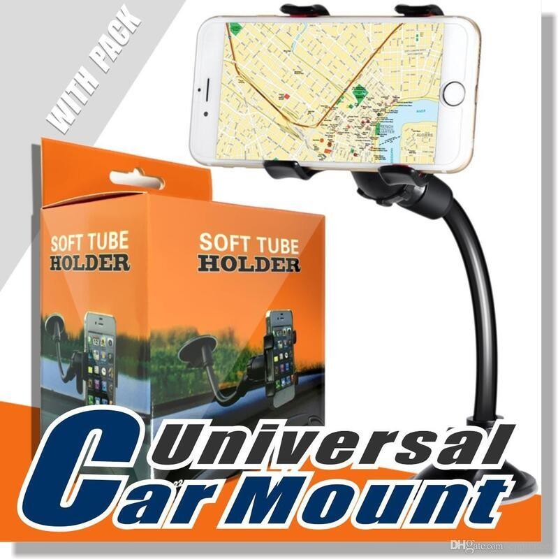 Car Mount Long Arm Universal Windshield Dashboard Mobile Phone Holder 360 Degree