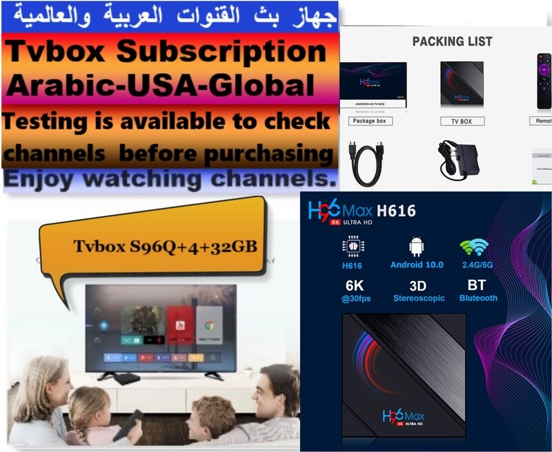 only Subscription 1 year  Arabic - USA - global channels with test 48 HRS