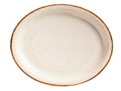 Bandeja Ovalada Corona Artisan Beige 11 ¾