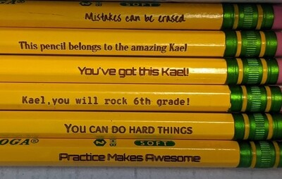Customized pencils 12pk