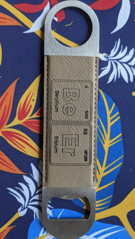 Leatherette Personalized bottle opener