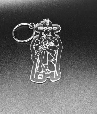 Clear acrylic Bernie keychain