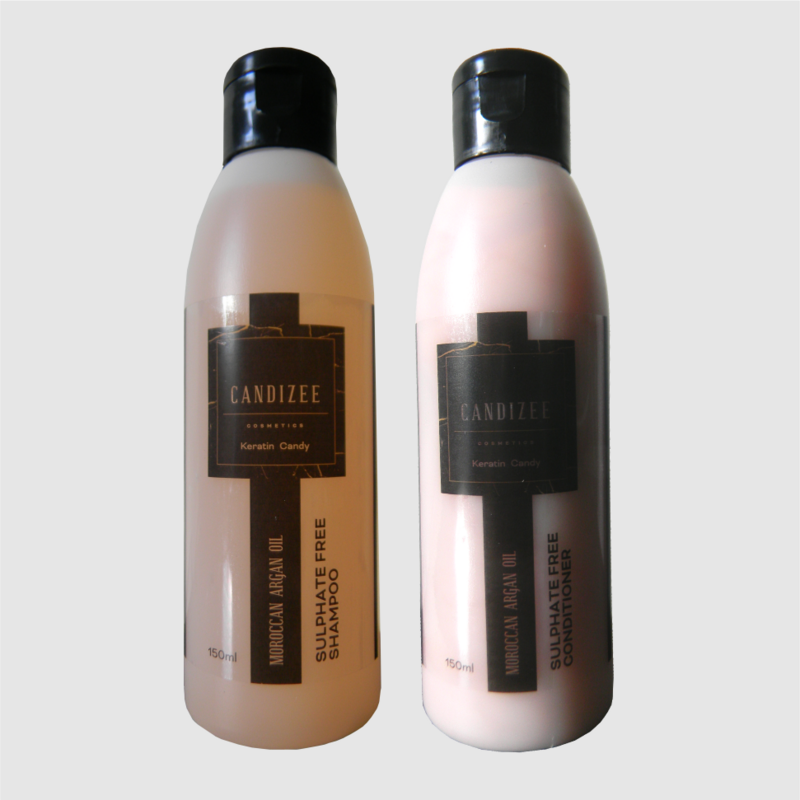Candizee - 150ml Moroccan Argan Oil Sulfate-Free Shampoo & Conditioner Aftercare Kit