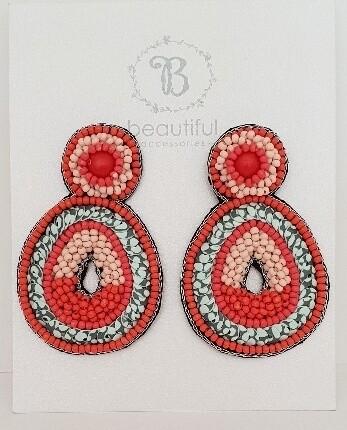 Beach Earrings Red/Blue