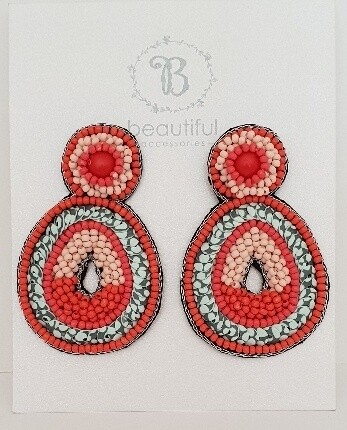 Beach Earrings Red/Blue